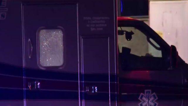 Man punches ambulance windows in Highland Park