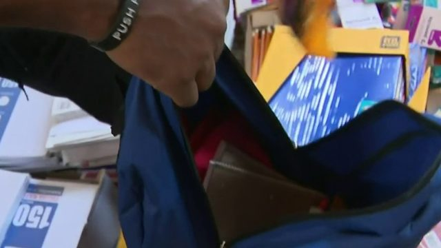 Back-to-school giveaway provides supplies to Detroit students