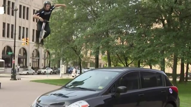WATCH: Xpogo Stunt Team member flips out on Live in the D