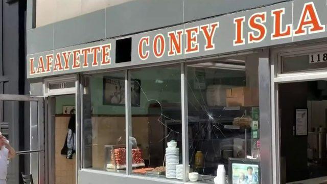 Lafayette Coney Island window smashed, arrests made after violent incident