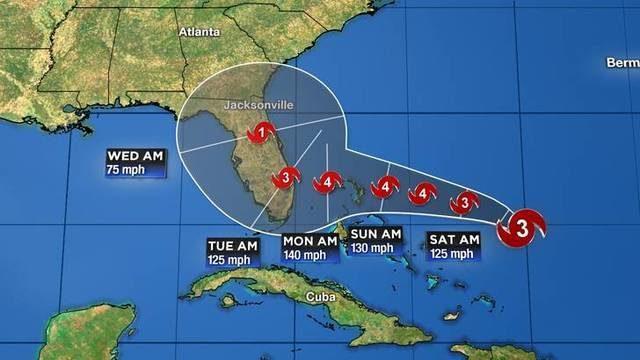 LIVE TRACKING: Hurricane Dorian now a Category 4 hurricane