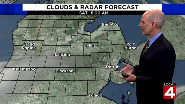 Metro Detroit weather: Cloudy Saturday afternoon with rain possible…