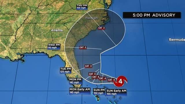 LIVE TRACKING: Hurricane Dorian now a Category 5 hurricane