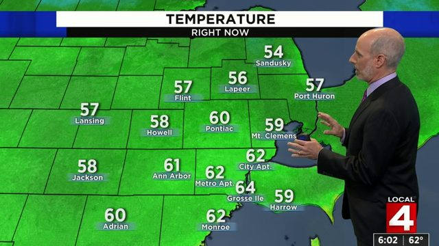 Metro Detroit weather forecast: Mostly cloudy Sundaywith scattered…