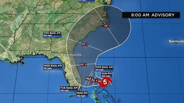 Hurricane Dorian intensifies to potentially catastrophic Category 5 storm