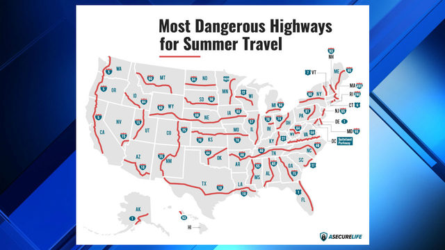 Study identifies 3 deadliest highways for summer travel in Michigan