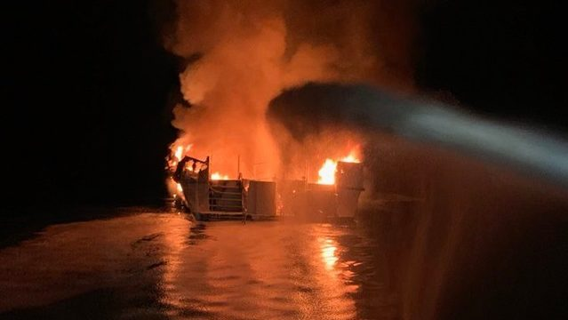 Officials: Dozens feared dead in California dive-boat fire