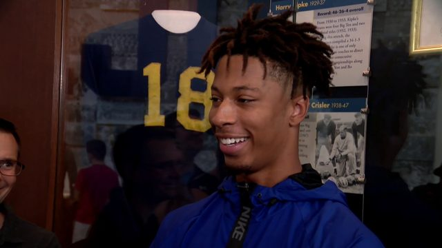 WATCH: Michigan cornerback Vincent Gray talks after win over Middle…