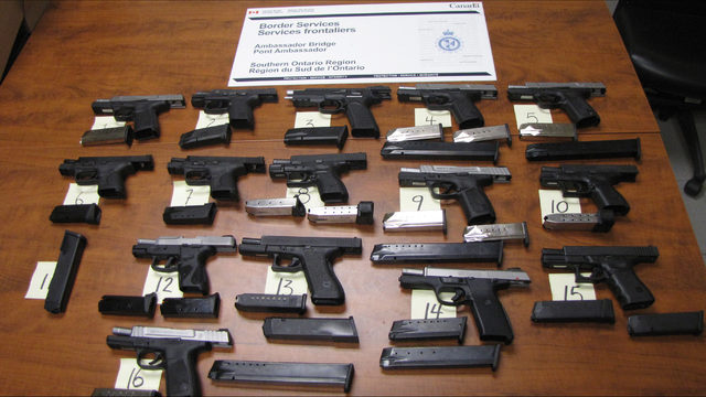Canadian authorities in Ontario have stopped 231 guns from entering…