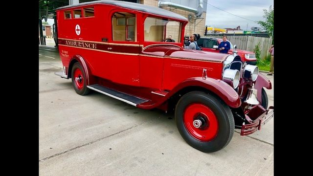 This restored 1927 Detroit ambulance is helping out local heroes now!…