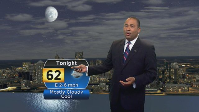 Metro Detroit weather: Mostly cloudy, cool Monday evening