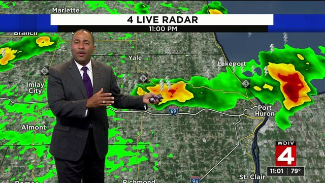 Metro Detroit weather: Warm, muggy Tuesday night after storms