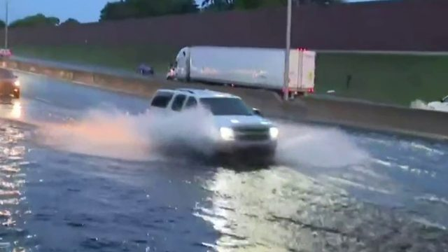 Heavy downpours forced part of I-94 to temporarily close due to flooding…