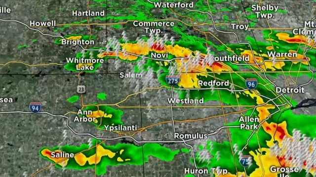 Severe thunderstorm watch in effect for Metro Detroit