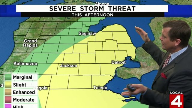 Metro Detroit weather: Risk for severe storms today -- here's when