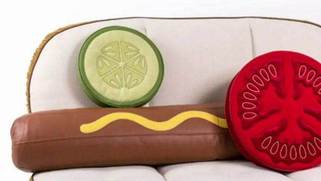 Neiman Marcus is selling hot dog couch, burger chair