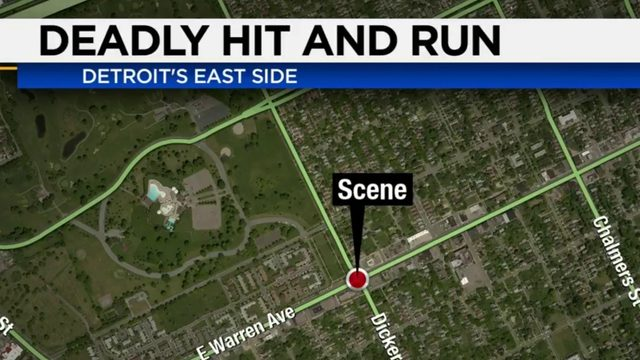 Search for driver in hit-and-run crash on Detroit's east side continues