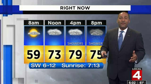 Metro Detroit weather: Warm Sunday with afternoon showers and storms