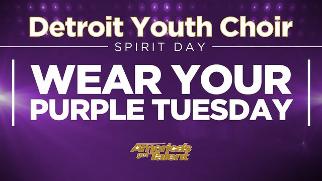 Detroit Youth Choir Spirit Day: Wear your purple!