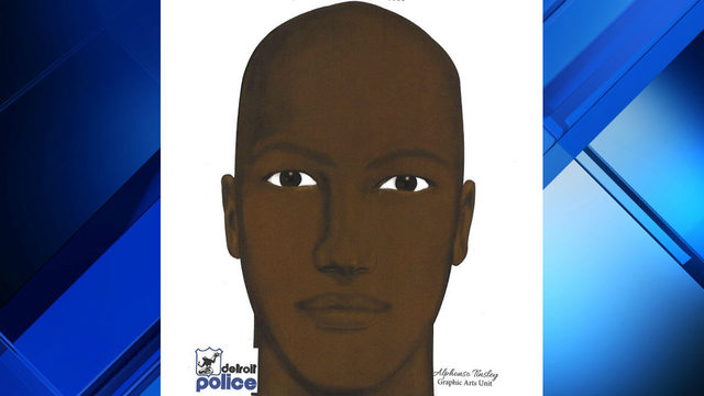 Police release sketch of suspect in Detroit double-shooting