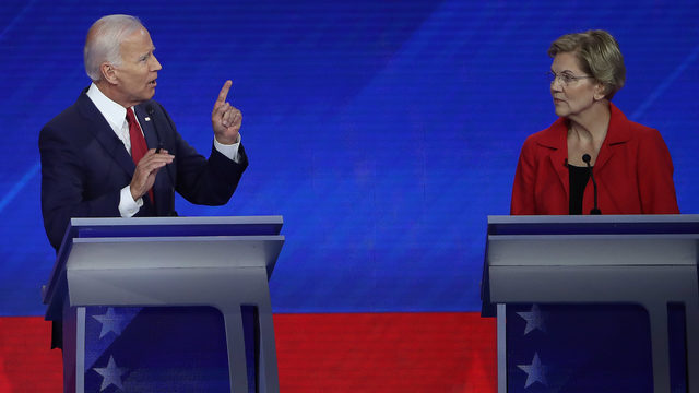 NBC/WSJ poll: Biden leads Dem 2020 field, Warren's support grows
