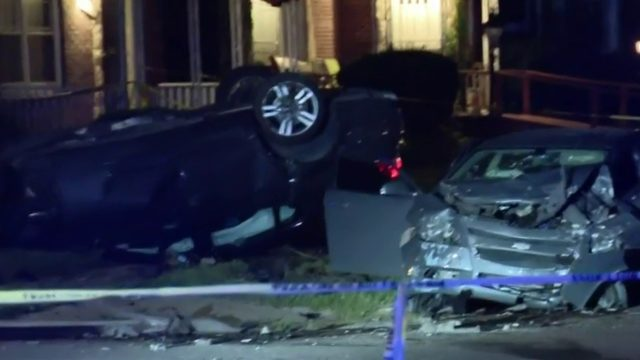 Multiple people hospitalized after violent crash, shooting in Detroit