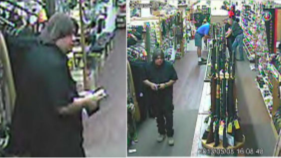 Authorities seeking man who stole guns, silencers from Michigan store in 2013
