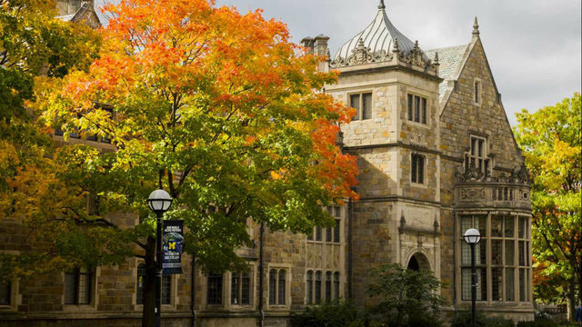 Top spots for fall colors on the University of Michigan campus