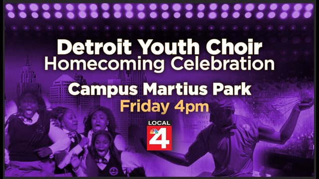 Detroit Youth Choir homecoming celebration is Friday at Campus Martius