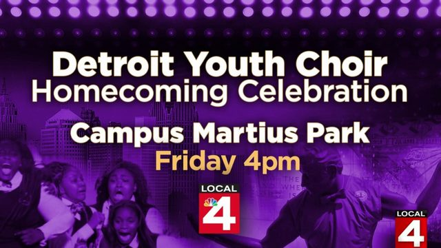 WATCH LIVE: Local 4's homecoming party for Detroit Youth Choir