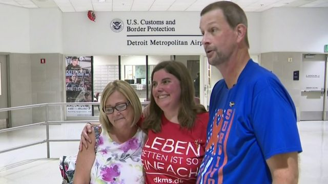 Michigan man meets German bone marrow donor who saved his life