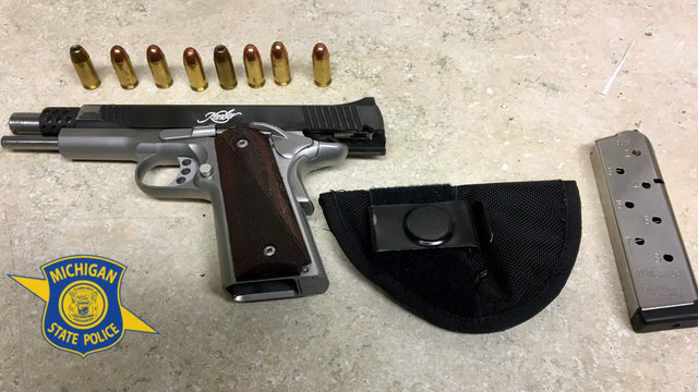 Police seize loaded gun from Orlando man pulled over for illegal turn in Inkster