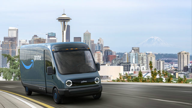 Amazon orders 100,000 electric vans from Plymouth auto company Rivian
