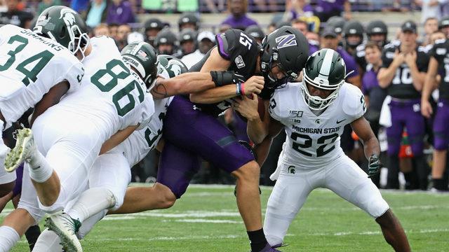 MSU routs Northwestern, Dantonio becomes school's winningest coach