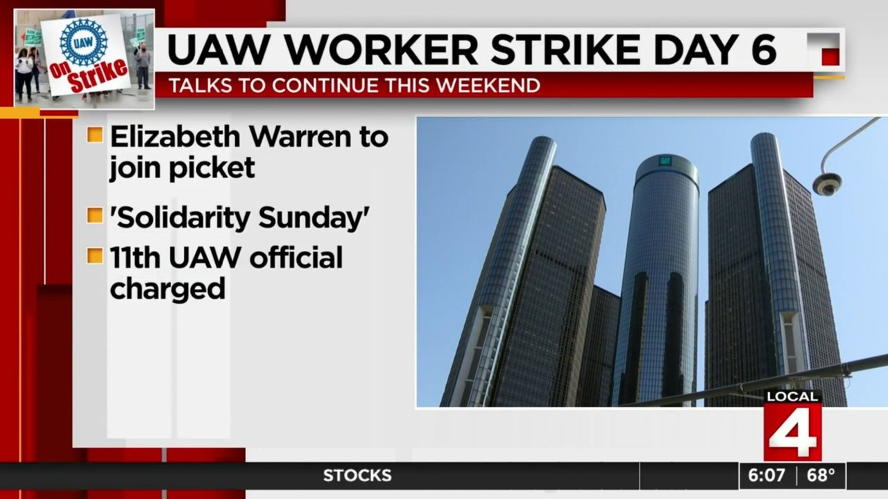 UAW strike against GM to continue through weekend, solidarity protest taking place Sunday