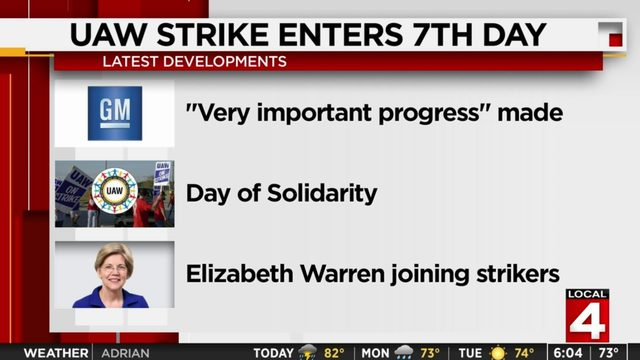 Elizabeth Warren to join striking UAW members Sunday in Metro Detroit…
