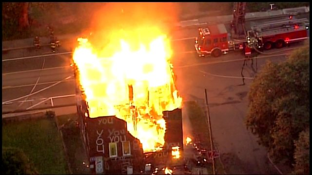 Heidelberg Project building burns
