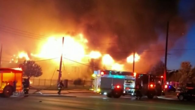 Crews rescue seniors from fire that destroyed Detroit apartment complex