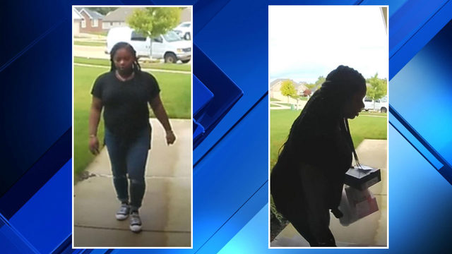 Police search for woman seen taking packages off Clinton Township porch