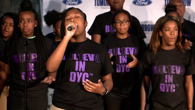 WATCH: Detroit Youth Choir performs inside Michigan Central Station,…