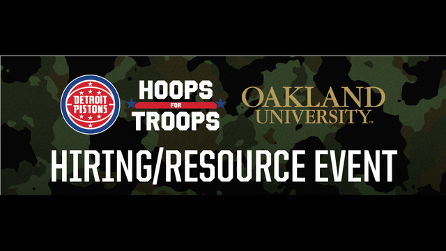 Pistons to host 'Hoops for Troops' hiring, resource event in November