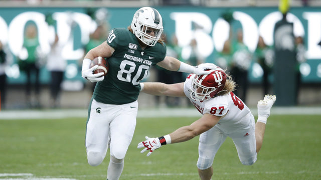 No. 25 Michigan State outlasts Indiana 40-31
