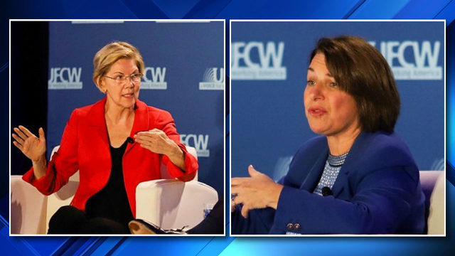 Sens. Warren, Klobuchar visit Madison Heights, discuss protecting unions