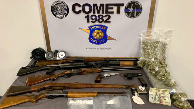 Search warrants lead to seizure of guns, drugs, cash in Warren and Detroit