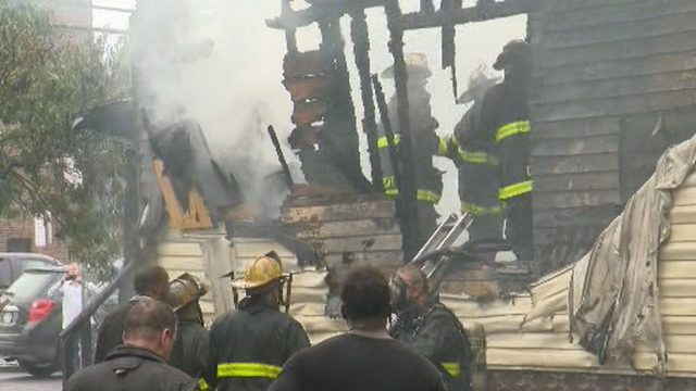 3 firefighters hurt after upper level of burning vacant home collapses…