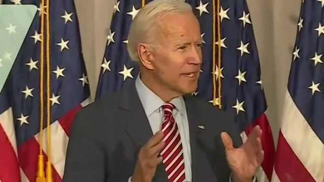 President Donald Trump says China should investigate Joe Biden