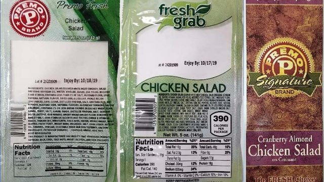 Chicken recall: Salads, sandwiches may have Listeria contamination