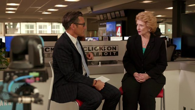 Sen. Debbie Stabenow speaks to Local 4 after releasing climate change report