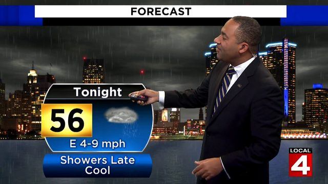 Metro Detroit weather forecast: Cloudier, Saturday evening, showers later