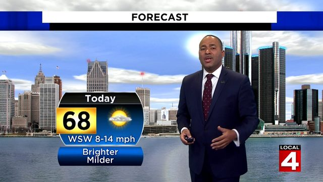 Metro Detroit weather forecast: Showers long gone, afternoon sunshine ahead